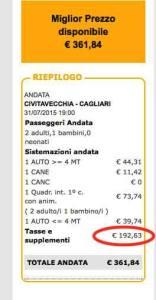Prezzo Tirrenia