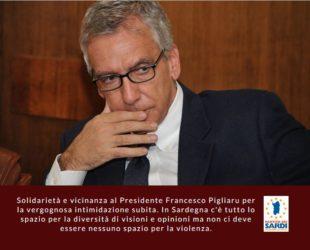 Solidarietà e vicinanza al Presidente Pigliaru