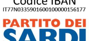 Simbolo Partito dei Sardi 70X100cm GM131106